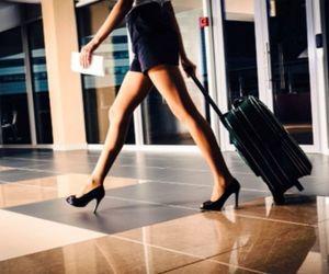 flight attendant and travel image