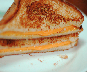 bed, french toast, and grilled cheese image