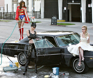 car, costumes, and girls image