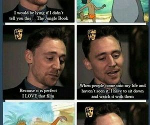 tom hiddleston, the jungle book, and cute image