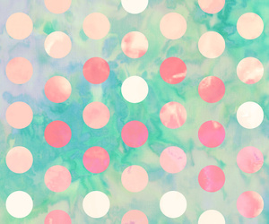 background, pink, and polka dots image