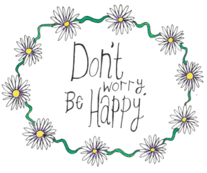 flowers, quote, and be happy image