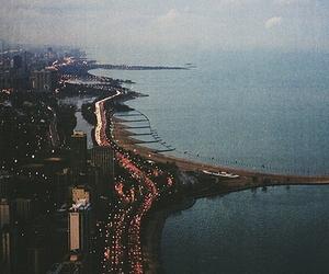 city, light, and sea image