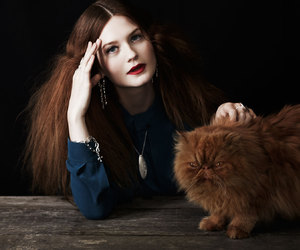 bonnie wright, cat, and harry potter image