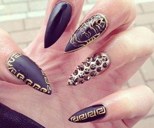 black, diamond, and nails image