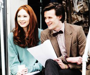 doctor who, matt smith, and karen gillan image