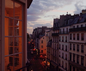 balcony, france, and lights image