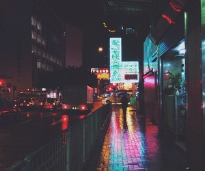alone, neon, and street image