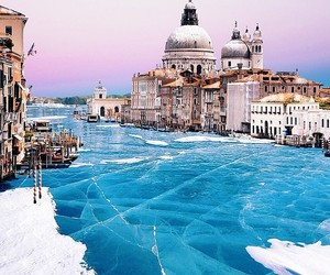 venice, city, and frozen image