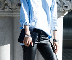 blogger, blue, and bracelet image