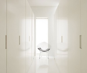 architecture., stylish white building, and wooden living desk image