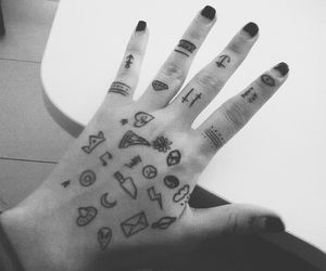 drawings, hand, and hipster image