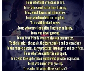 football, girl, and motivation image