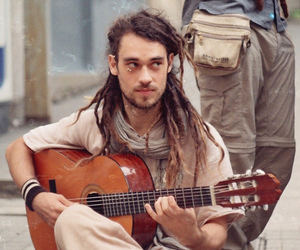 dreads, guitar, and music image
