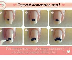 moustache, nails, and simply image