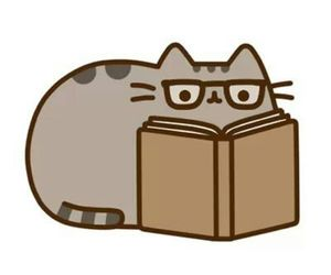 book, pusheen, and cat image