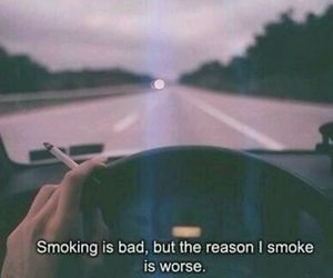 bad, cigarette, and driving image