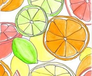 girly, orange, and lemons image