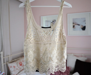 fashion, lace, and top image