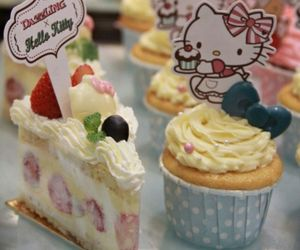 cupcakes and hello kitty image