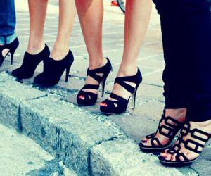 girls, heels, and shoes image