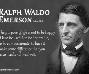 ralph waldo emerson, life quotes, and purpose of life image