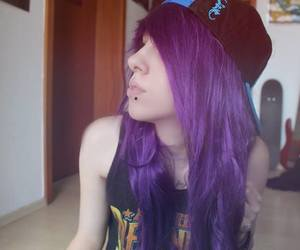 dyed hair, scene, and emo girl image