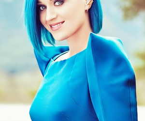 katy perry, blue, and smile image