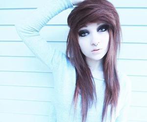 girl, hair, and scene image