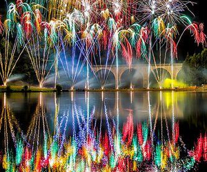 fireworks, pretty, and lights image