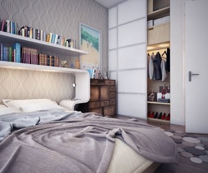 bedroom, small, and apartment. image