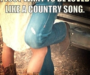 love, country, and cowboy image