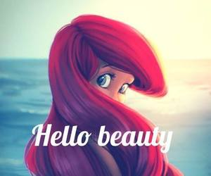 ariel, beauty, and disney image