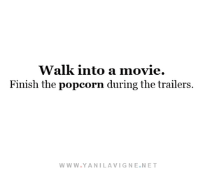 popcorn, movie, and trailers image