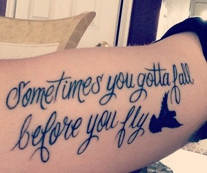 tattoo, fly, and fall image