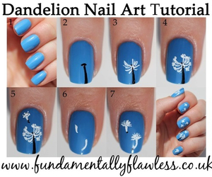 nails, dandelion, and blue image