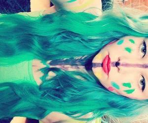 alt girl, dyed hair, and scene hair image