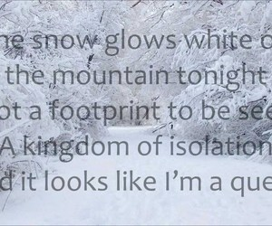 frozen, lyric, and song image