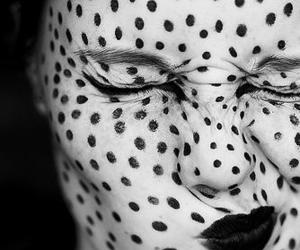 black and white, face, and photography image