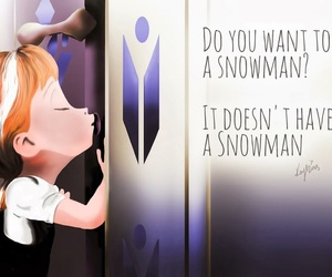 frozen, snowman, and anna image