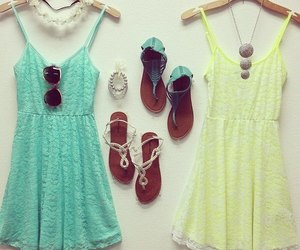 outfit, dress, and spring image