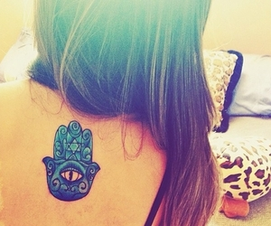girl, tattoo, and love image