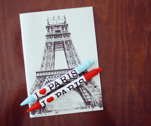 paris, eiffel tower, and red image