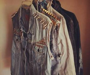 denim, studs, and style image