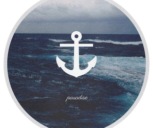 paradise, sea, and anchor image