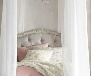 bedroom, pink, and girly image