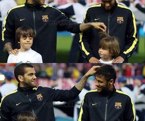 dani alves, neymar, and neymar jr image