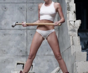 miley cyrus, video, and wrecking ball image