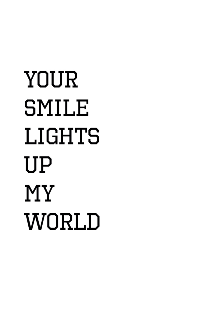 your smile lights up my world💕 on we heart it
