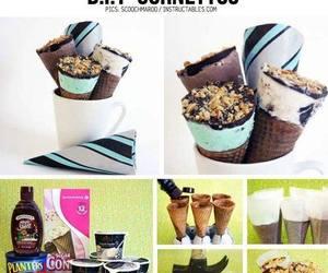 chocolate, helados, and diy image